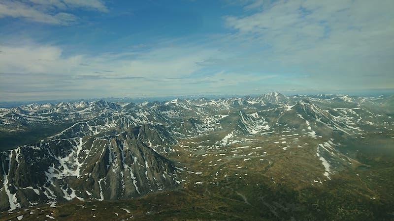 Over Head View - Yukon Landscape